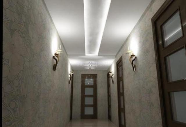 Потолки в коридоре своими руками