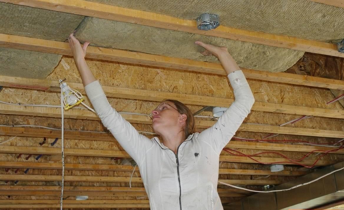 Утеплить потолок частный дом своими руками 70