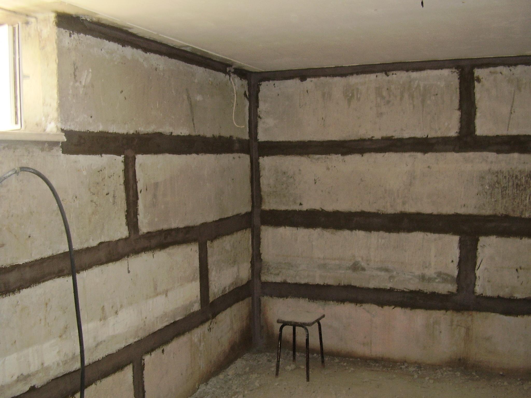 Стена в подвале своими руками 61