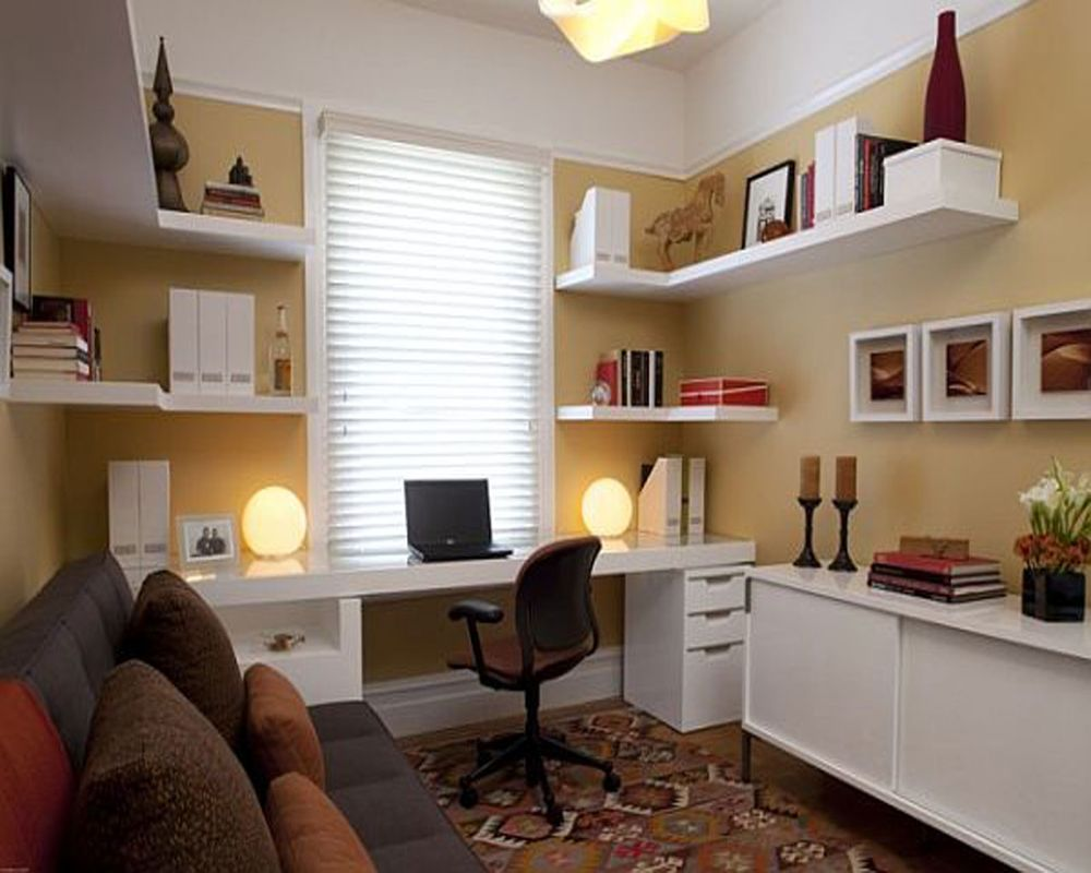 2013-chic-home-office-table-and-cabinets-also-rack-with-gray-sofa-carpet-rug