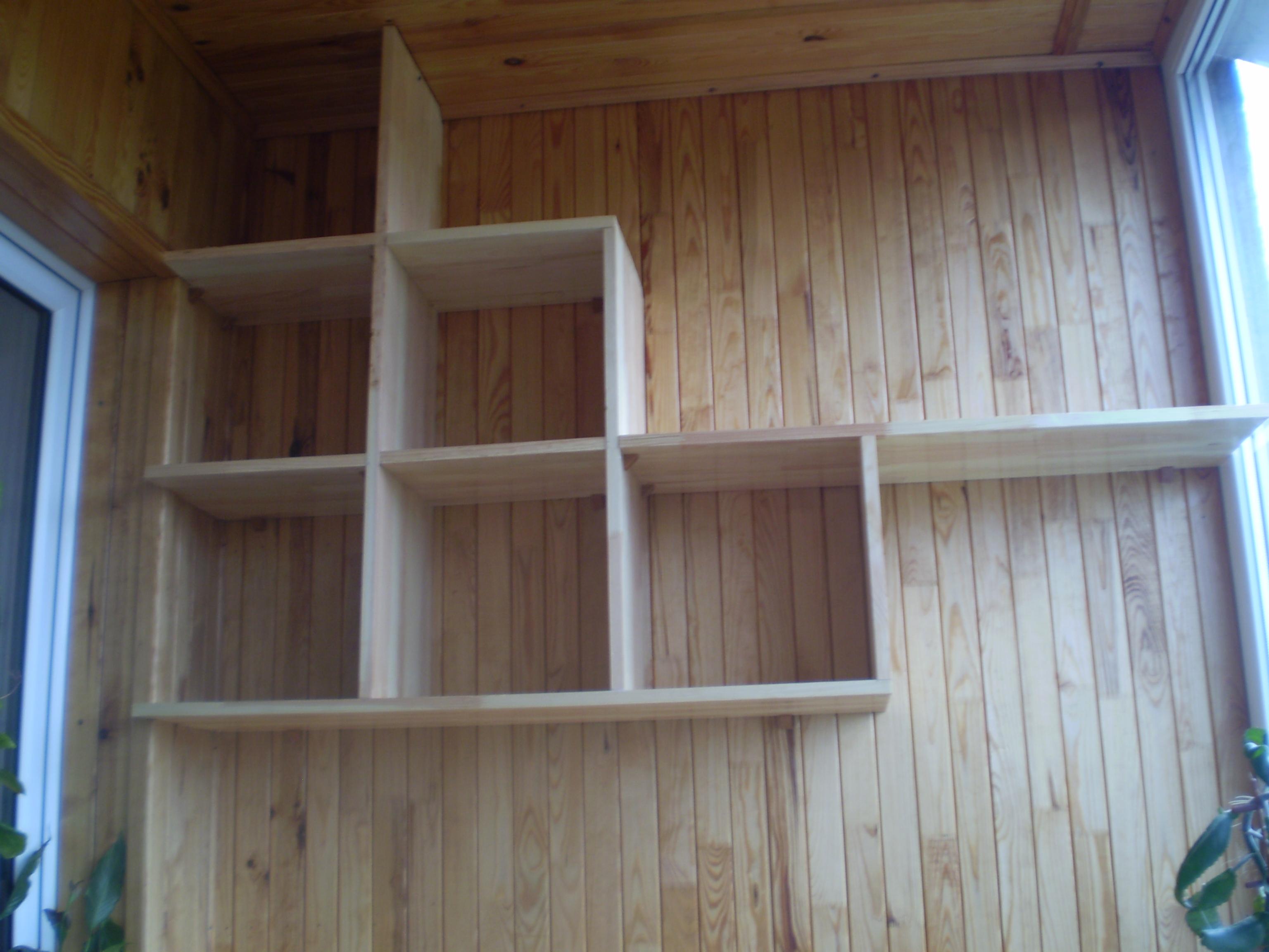 Как сделать полочки на балкон своими руками