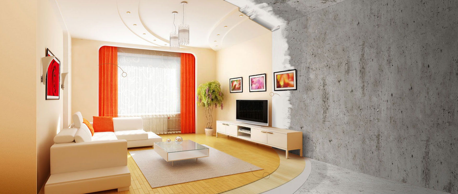 Отделка квартир под ключ Стоимость внутренней отделки