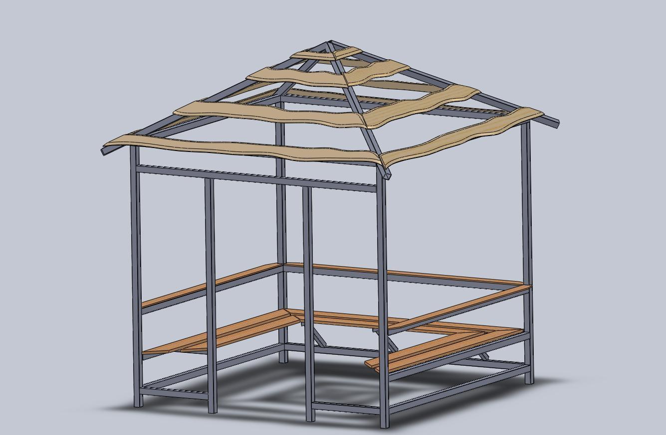 Крыша для беседки своими руками шестиугольную