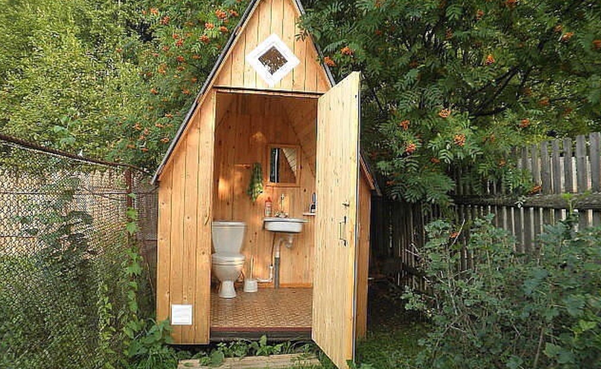 Дачный туалет фото дизайн