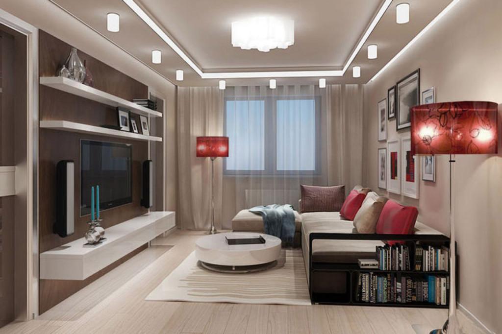 Дизайн гостиной 17 кв.м.