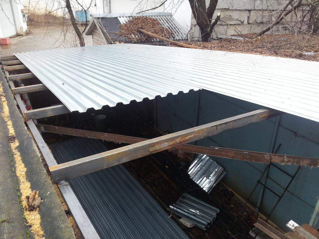 Ремонт крыши гаража металлического своими руками 73