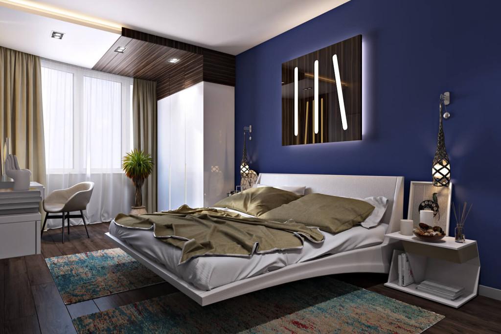 dizayn-spalni-s-paryaschey-krovatyu-v-stile-minimalizm