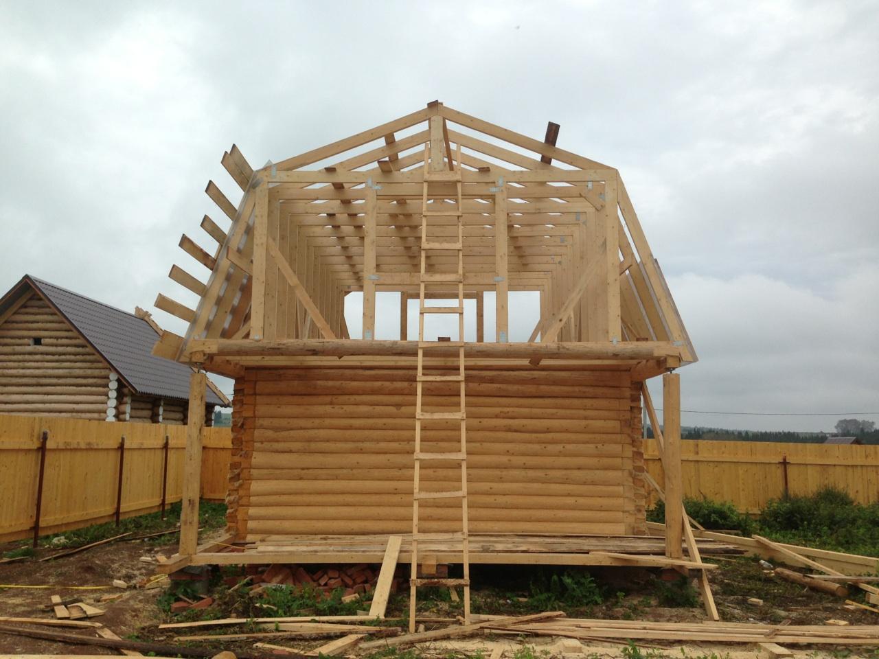 Двускатная мансардная крыша своими руками фото 572