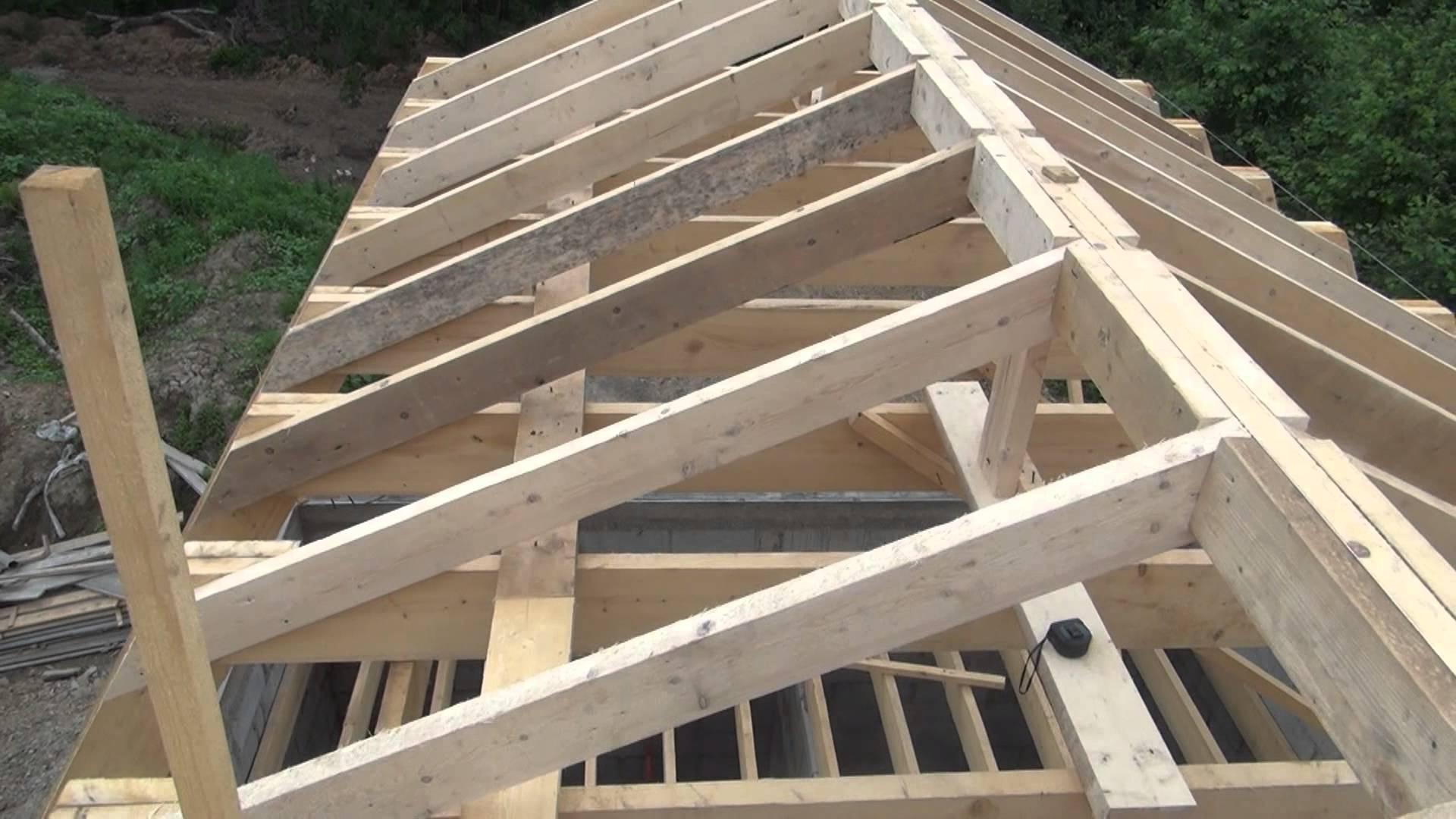 Односкатная крыша гаража 73