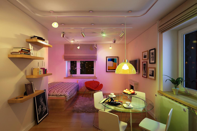 Как украсить однокомнатную квартиру своими руками фото