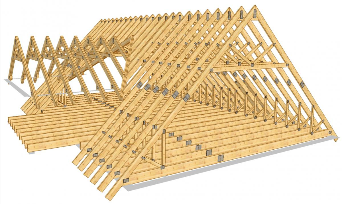Как построить крышу у дома своими руками фото