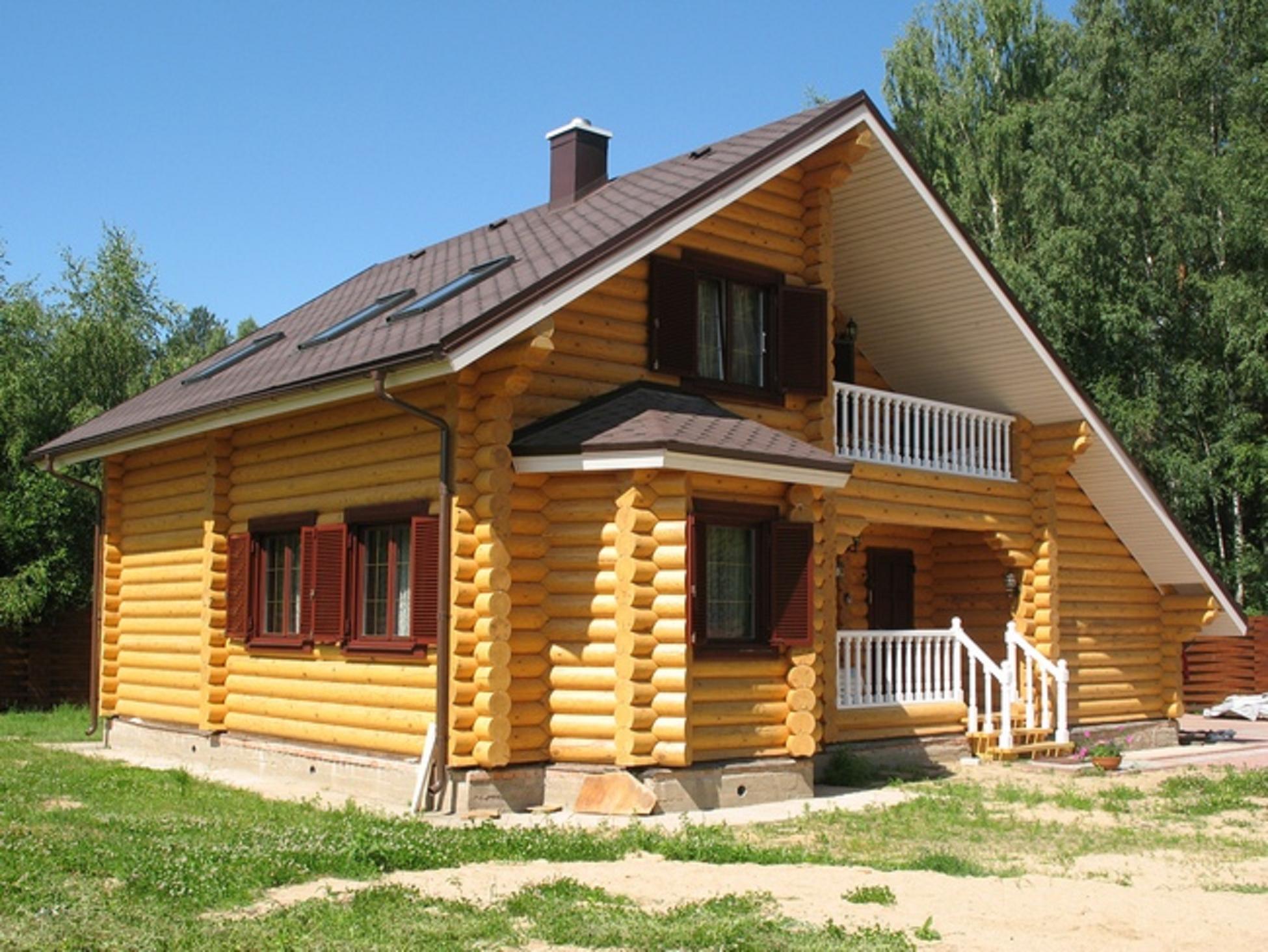 Дом из обычного бруса  видео115