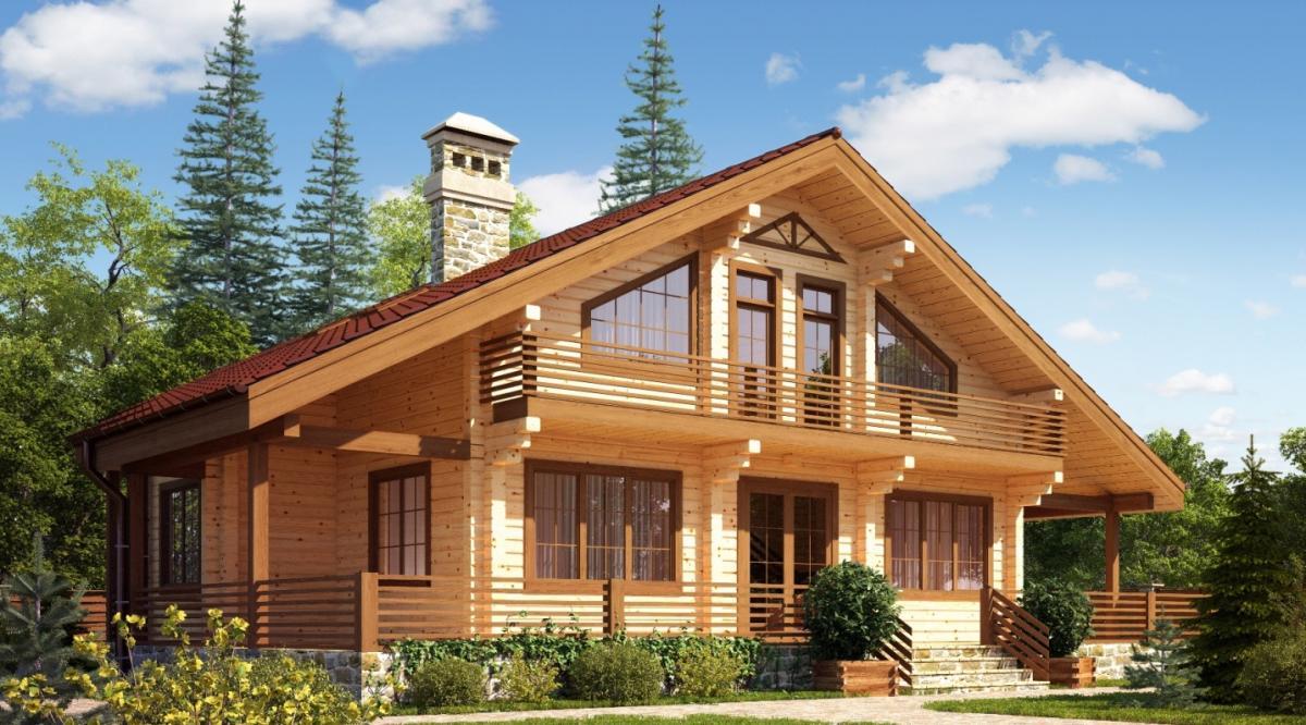 фото дом из бруса профилированного