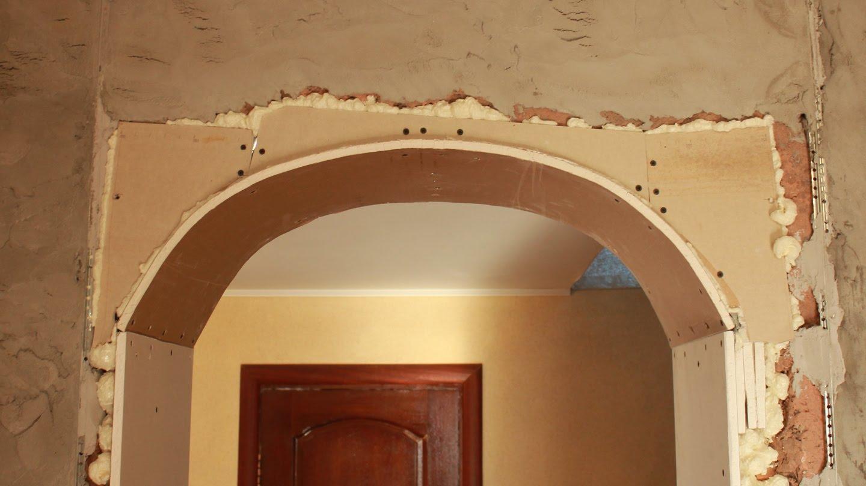 Если проем дверной из бетона как сделать арку