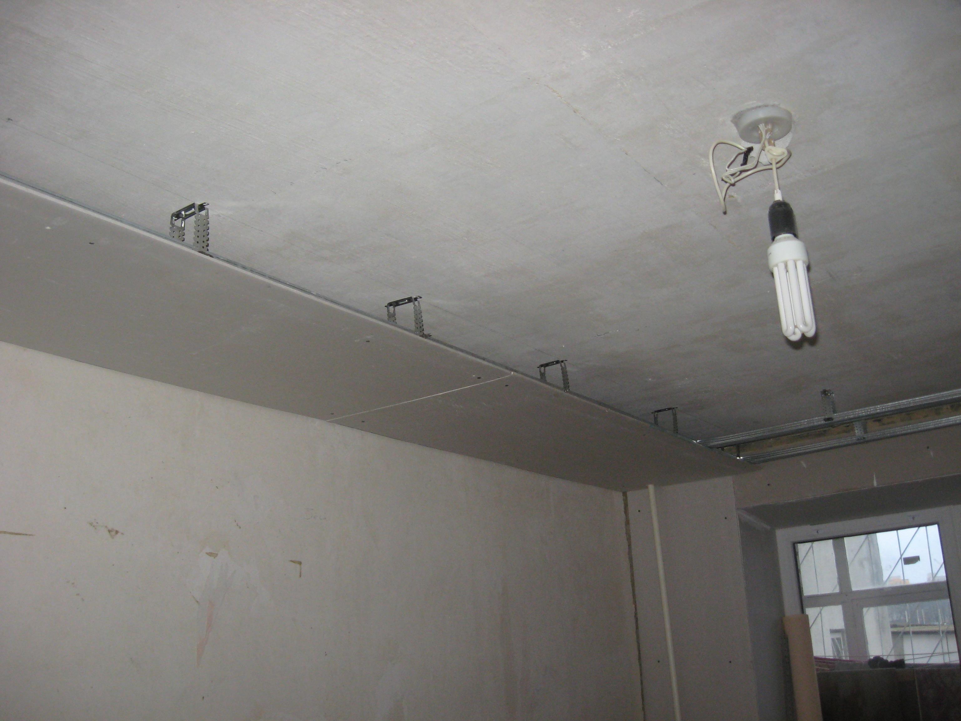 2 уровневый потолок из гипсокартона своими руками фото 83