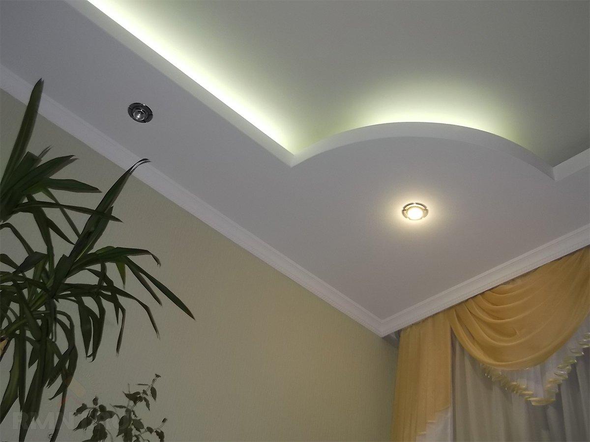 2 уровневый потолок из гипсокартона своими руками фото 571