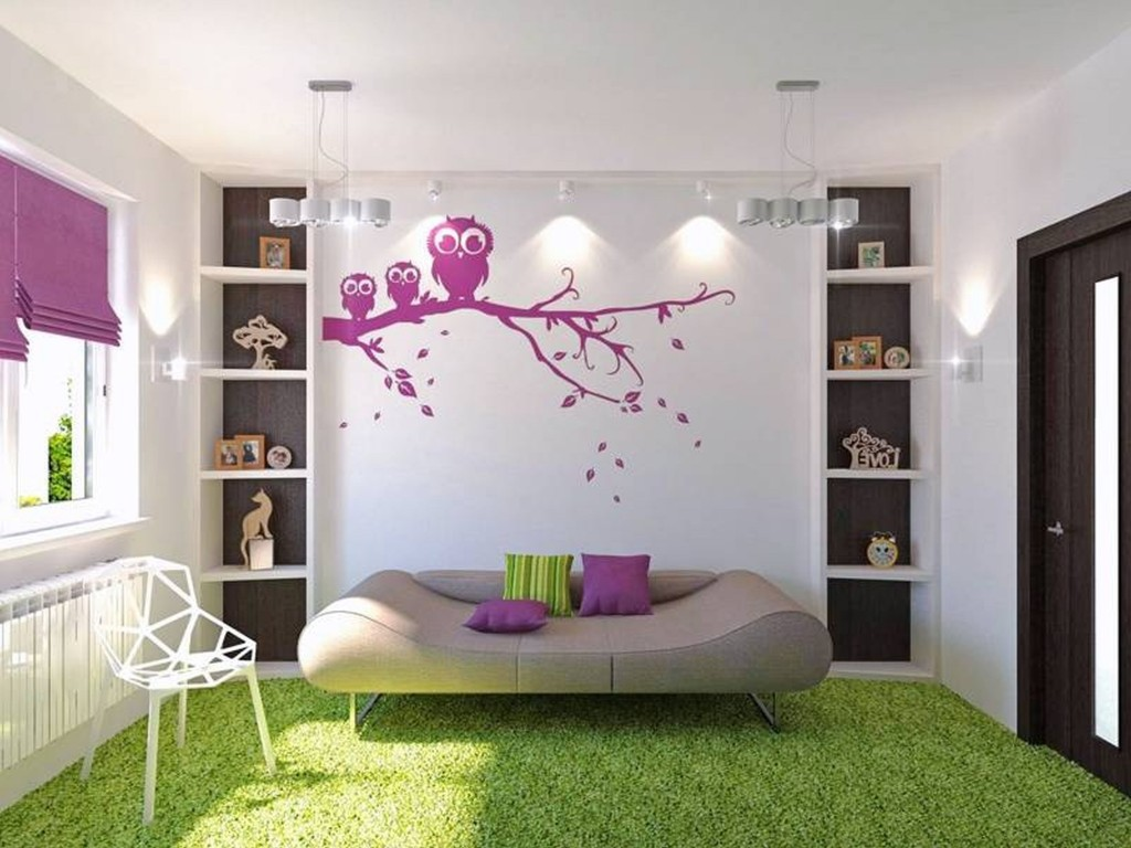 cool-painting-ideas-for-teenage-girls-room-decorated-with-modern-room-style-using-white-wall-color-combined-with-pink-wall-decals-and-green-carpet-design-ideas-inspiration-1024x768