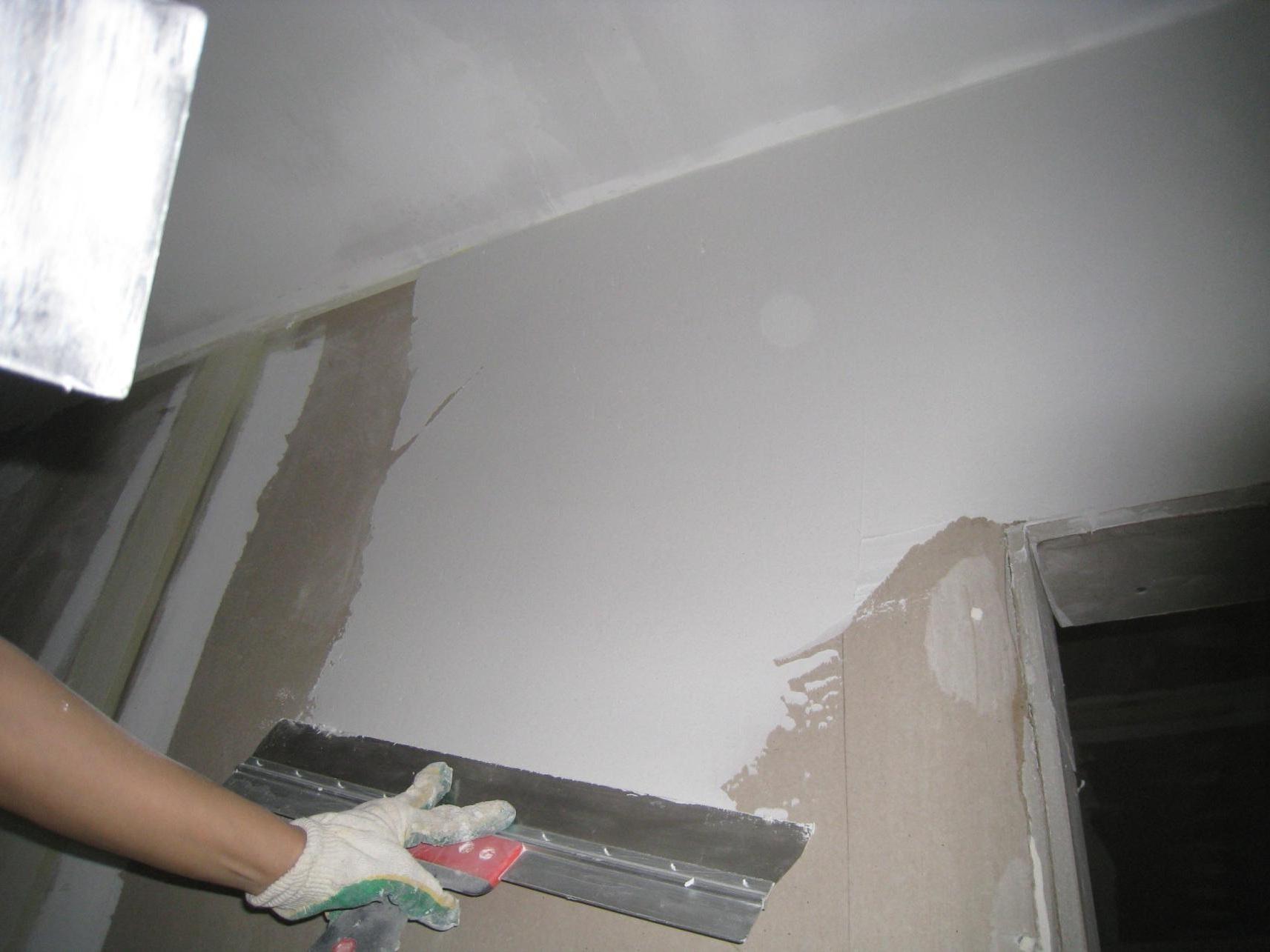 Шпаклевка потолка своими руками - пошаговая инструкция и 85