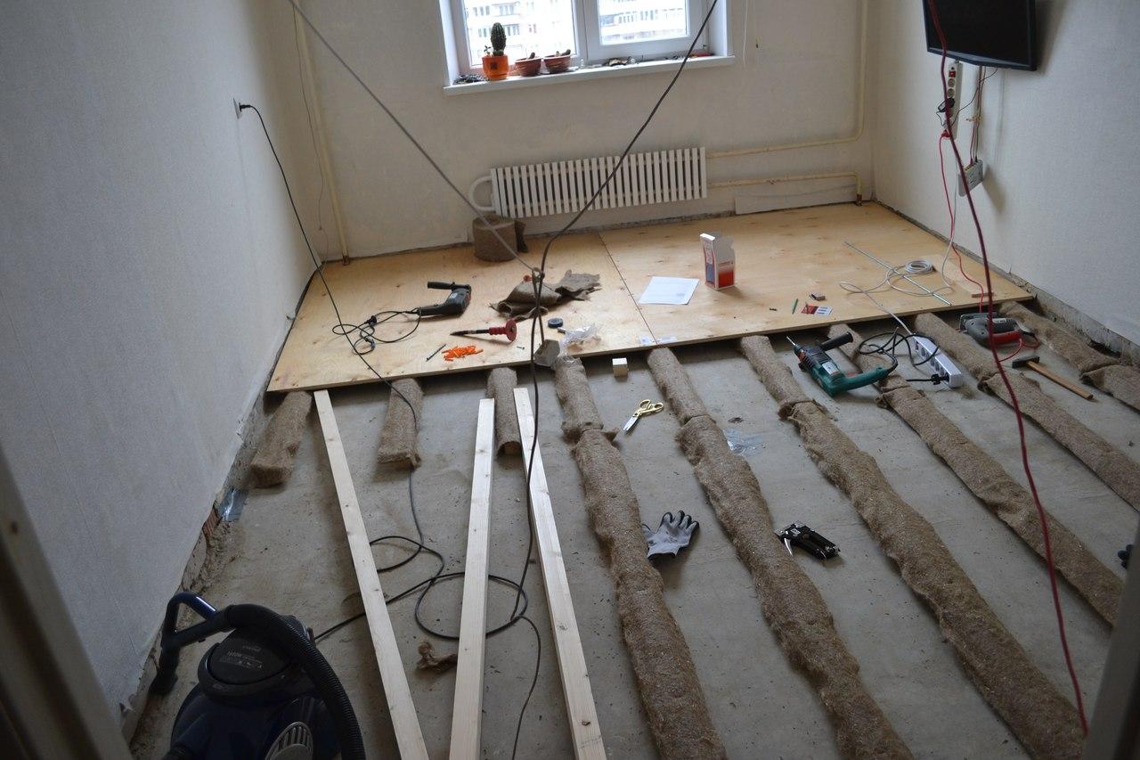 Полы в квартире по лагам своими руками 974