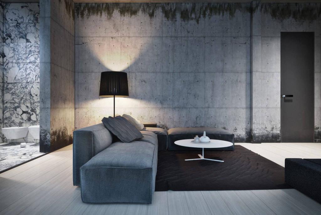 variant-modnogo-dizayna-oshtukaturivanie-sten-pod-beton