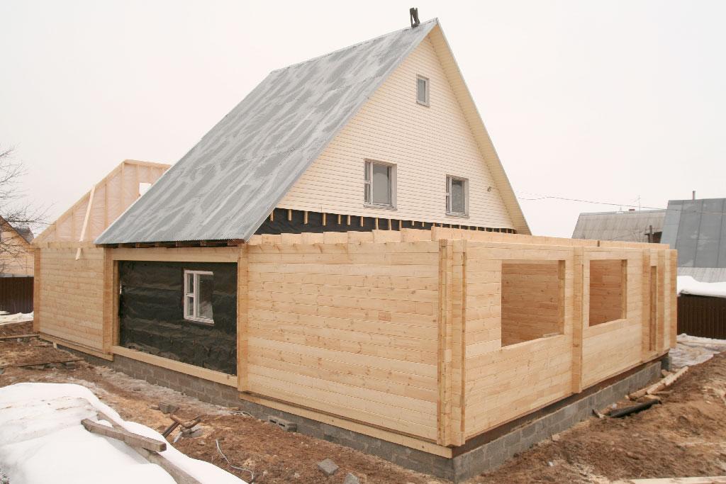 Как сделать пристройку из бруса к деревянному дому своими руками 75