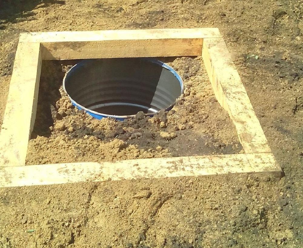 Как сделать выгребную яму под туалет 726