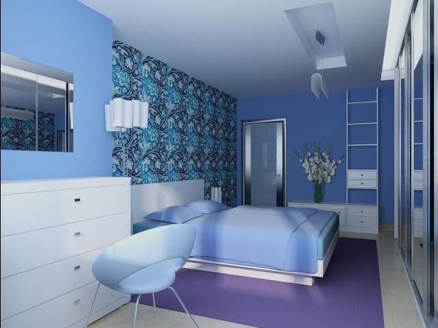 Golubojj-dizajjn-spalni