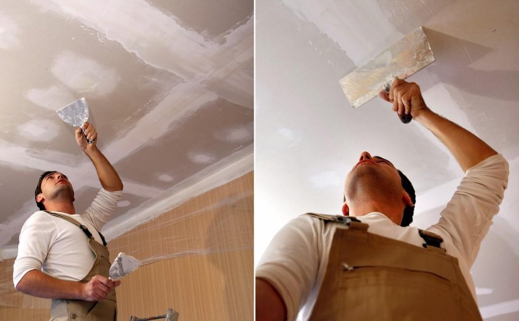 Как-шпаклевать-потолок-из-ГКЛ