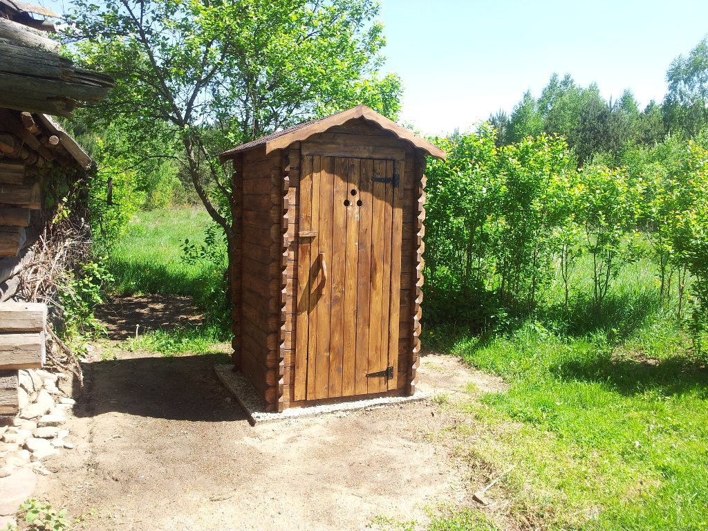 Туалет для огорода своими руками