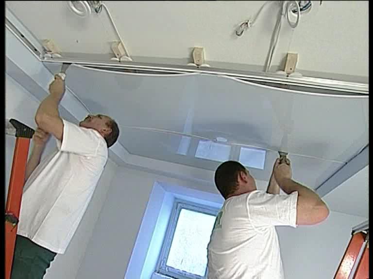 Как сделать натяжной потолки 170