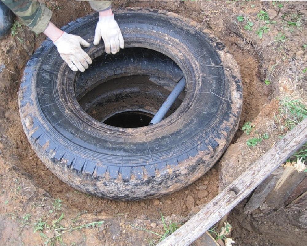 Сточная яма из покрышек своими руками фото 87