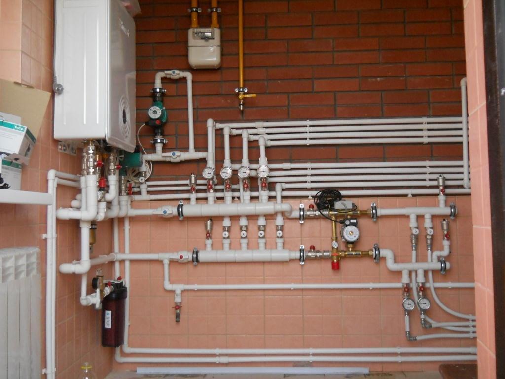 Монтаж системы отопления настенные