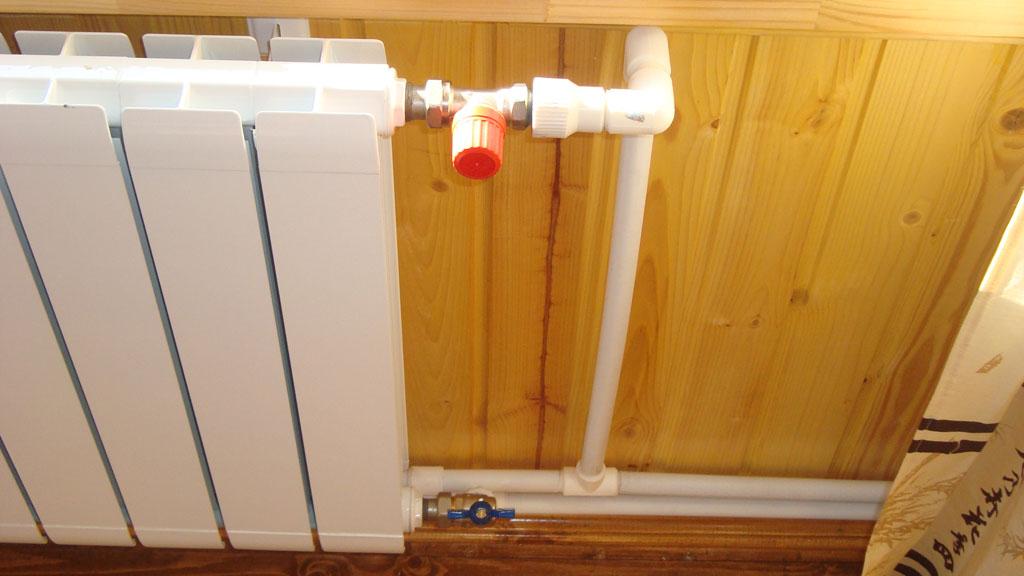 Схема батареи отопления в доме