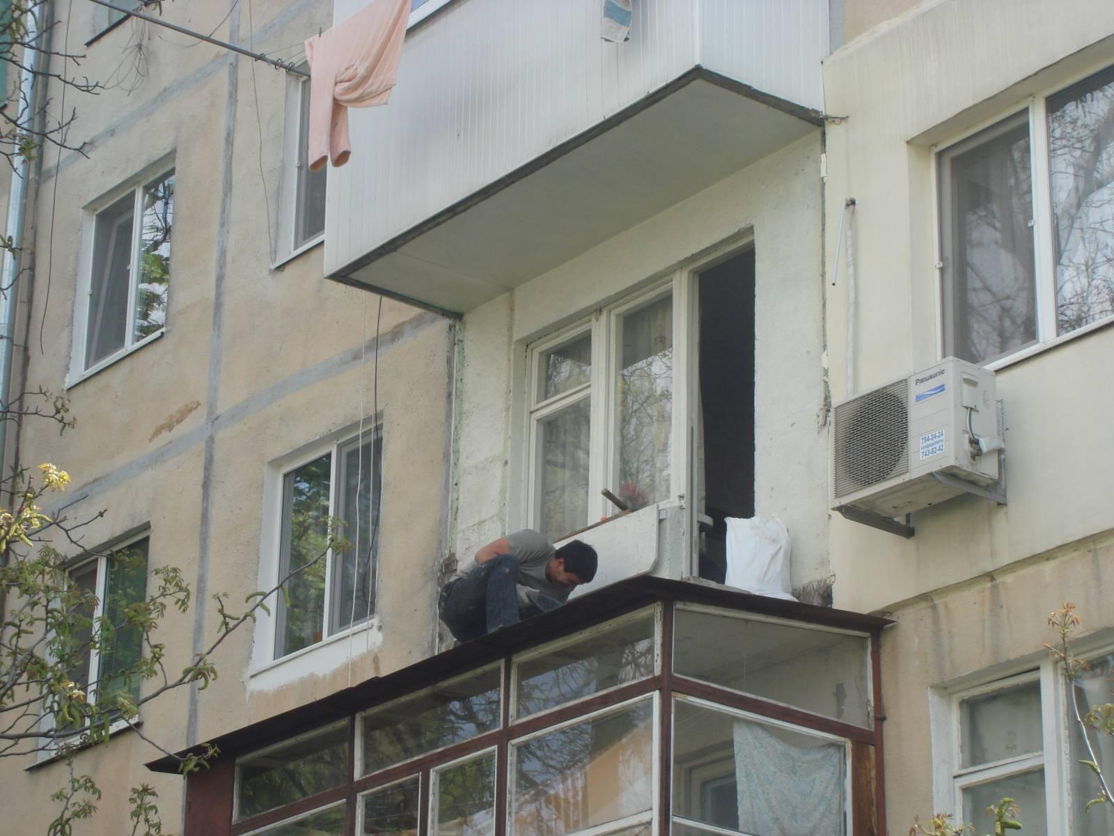 Демонтаж остекления балкона своими руками