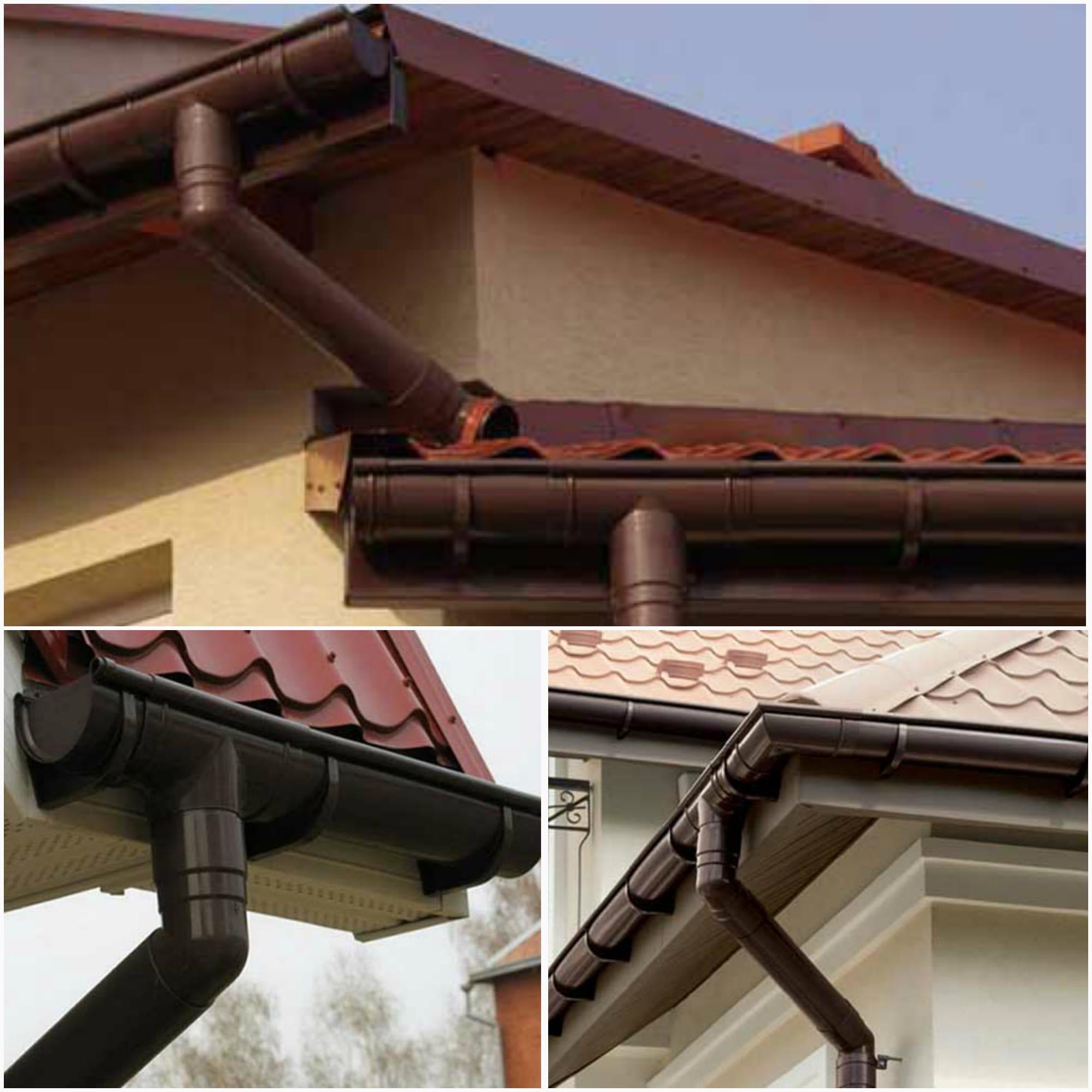 Сливная система крыши: материалы, монтаж 23