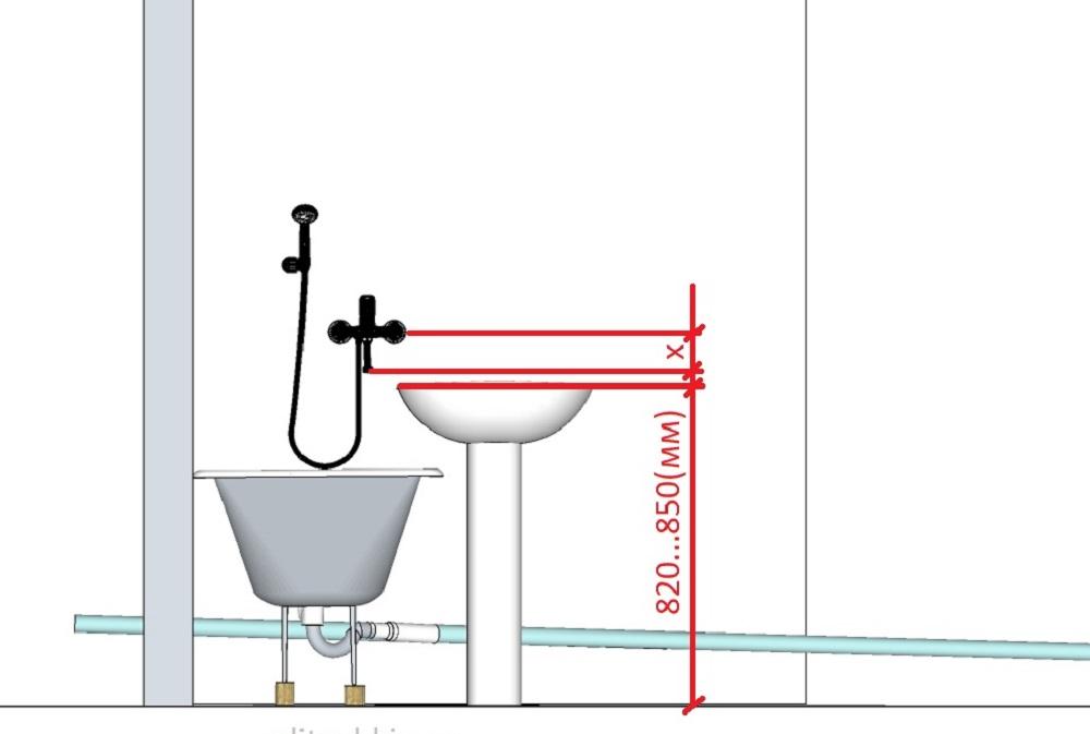 ванна-с-лежаком-смеситель-гусь-рис