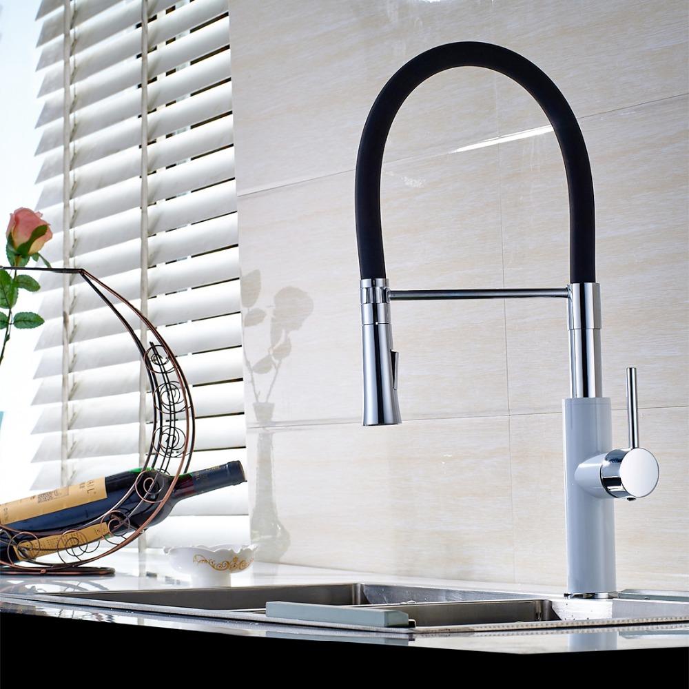 Современные-Однорычажный-Кухонная-Раковина-Кран-Бассейна-тянуть-вниз-Смесители-Для-Кухни-воды-Поворотный-Смесители-для-Кухни